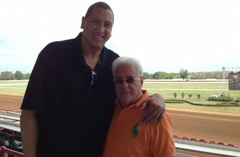 Basketball legend Sam Bowie and Ron Gurfein at Red Mile in 2018.