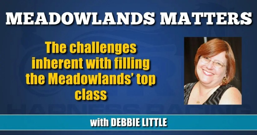 The challenges inherent with filling the Meadowlands' top class