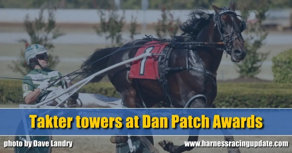 Takter towers at Dan Patch Awards