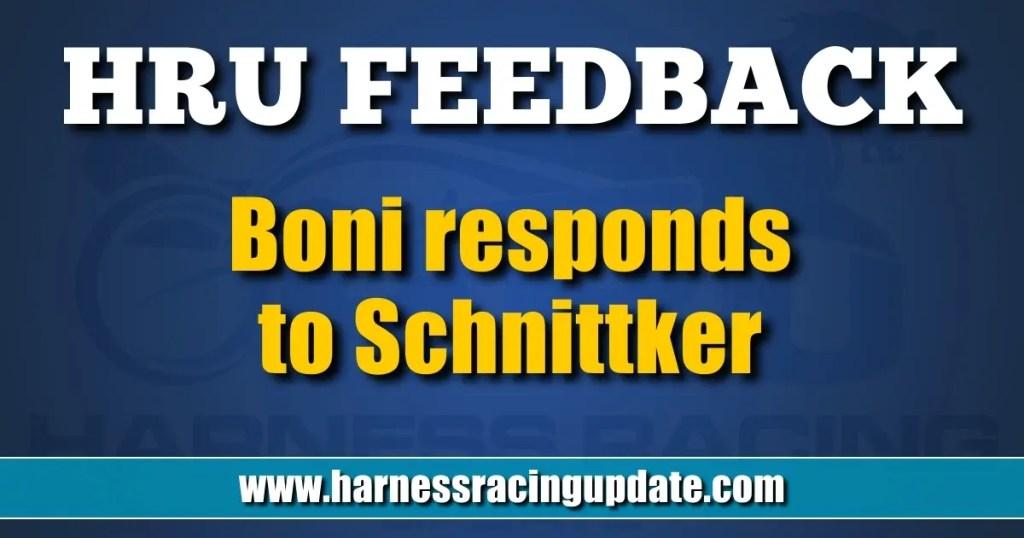 Boni responds to Schnittker