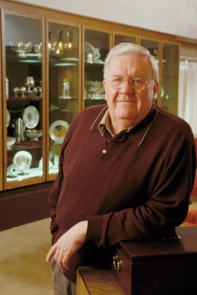 Dave Landry | Dr. Glen Brown during his tenure as president of Armstrong Bros. in the farm's trophy room.