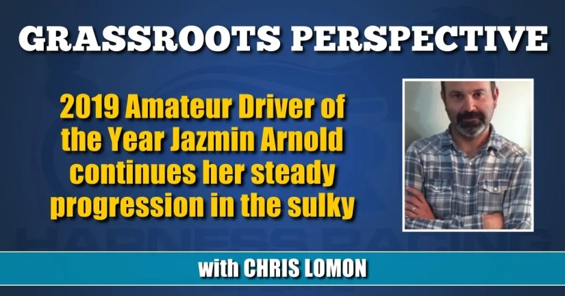 2019 Amateur Driver of the Year Jazmin Arnold continues her steady progression in the sulky