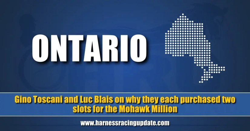 Gino Toscani and Luc Blais on why they each purchased two slots for the Mohawk Million