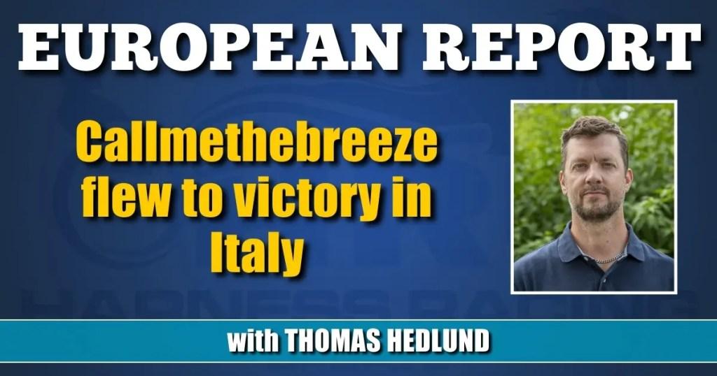 Callmethebreeze flew to victory in Italy