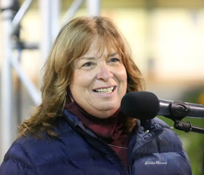 Dean Gillette   Trainer Linda Toscano (shown after winning the 2020 Breeders Crown for sophomore trotting fillies with Lady Chaos) is the latest to be interviewed in HRU's Twos in Training video series.