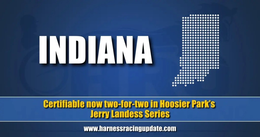 Certifiable now two-for-two in Hoosier Park's Jerry Landess Series