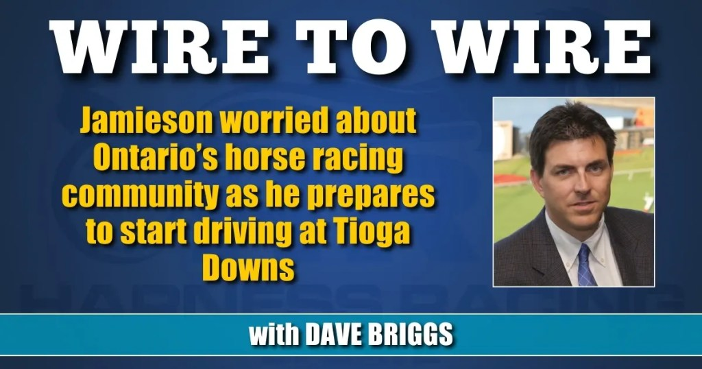 Jamieson worried about Ontario's horse racing community as he prepares to start driving at Tioga Downs
