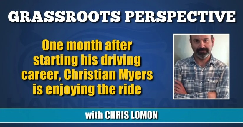 One month after starting his driving career, Christian Myers is enjoying the ride
