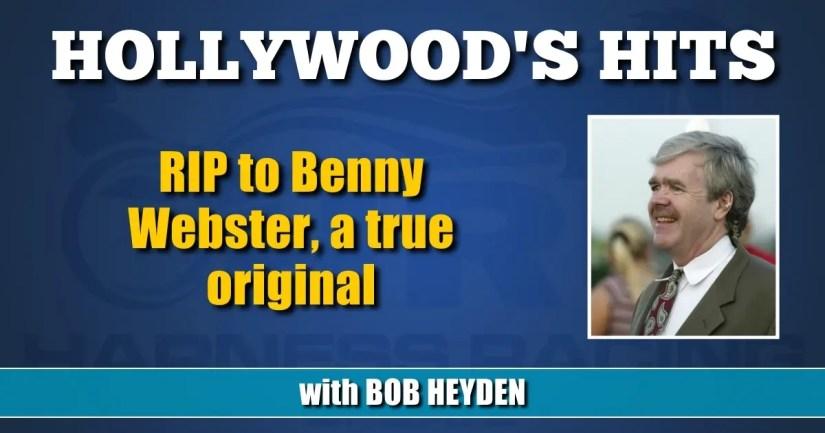 RIP to Benny Webster, a true original