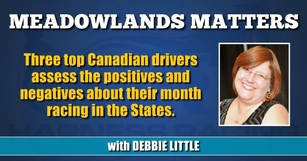 Three top Canadian drivers assess the positives and negatives about their month racing in the States.