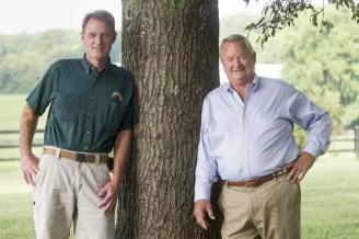 Dave Landry   Former Winbak general manager Garrett Bell (left) and his uncle, Joe Thomson.