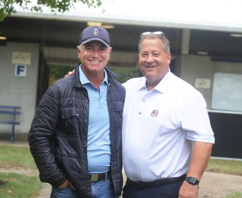Adam Ström staltz Famed thoroughbred horse agent Donato Lanni (left) with David Reid.