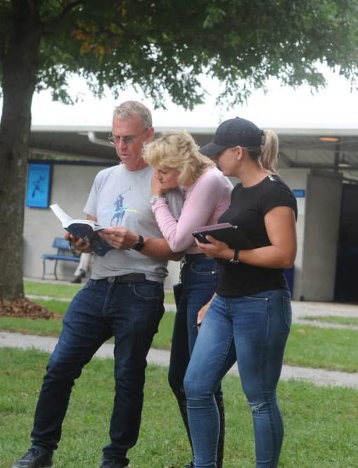 Adam Ström stalltz The Takter family — Jimmy, Christina and Nancy.