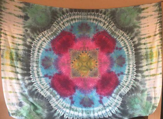 "Handmade mandala tapestry 90"" x 106"""