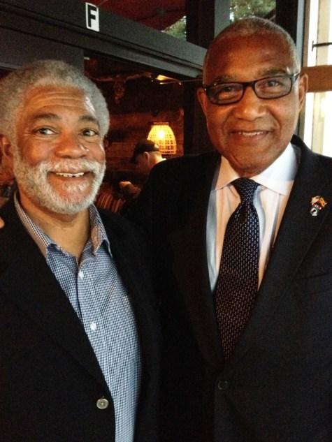 Harold Michael Harvey and Mayor Jack Ellis