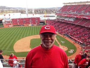 Harold Michael Harvey at Opening Day Reds 2014