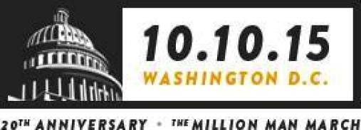 The Million Man March 20th Anniversary Flyer