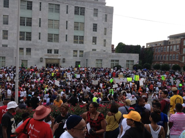 Following the not guilty verdict in the George Zimmerman trial for the killing of Trayvon Martin the city of Atlanta turned out  en mass to rally against this verdict two years ago today at the Martin Luther King, Jr. Federal Building. Has interest in justice in America on a decline since this historic day?