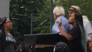Bernie Sanders Seattle Protest