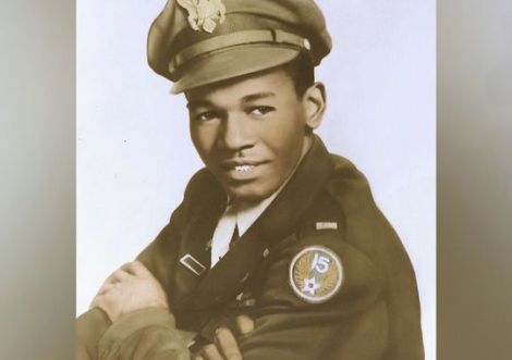 Calvin Spann as a young Tuskegee Airman, circa 1943 Photo Credits: WFAA.com