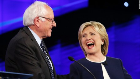 During the first Democratic Presidential Debate on October 13, 2015 Sen. Bernie Sanders and former Secretary of State Hillary Clinton clearly defined themselves as Mr. Outsider and Mrs. Insider.