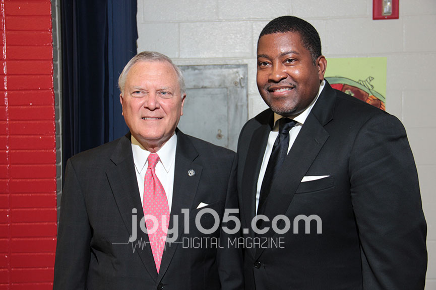 From L-R Georgia Governor (R) Nathan Deal and Dr. E. Dewey Smith, who has one of the fastest growing mega-church ministries in the southeast. Smith's father Rev. Eddie Dewey Smith, Sr. was one of five black people to be elected to the Macon, Georgia City Council for the first time in 1975.