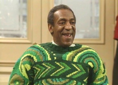 The pre-scandal Bill Cosby in his trademark sweater Photo Credits: Our Weekly.Com