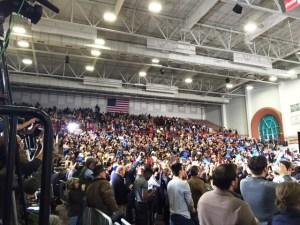 Bernie Sanders Rally at Forbes Areana 2 16 16