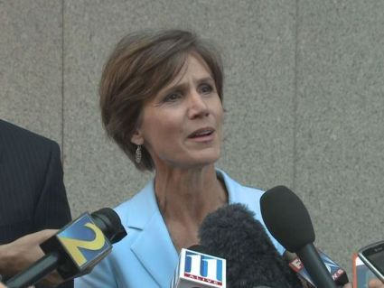 Sally Yates is one of two Justice Department attorneys who will review the FBI file on Hillary Clinton's use of a private email server to determine if Clinton violated any federal laws. Yates show here holding a news conference when she in the U. S. Attorney's office for the Northern District of Georgia is no stranger when it comes to prosecuting high profile political figures. Photo Credits: www.wxiatv.com