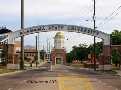 Entrance to Alabama State University in Montgomery, Alabama.