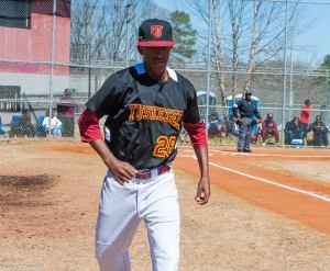 Darien Brown Tuskegee Baseball Pitcher March 19 2017