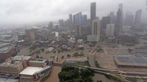 Houston Texas Under Seize of Hurricane Harvey CNN Photo