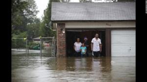 Hurricane Harvey Family Stranded CNN Photo