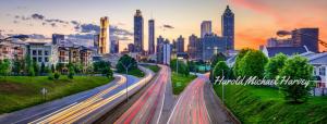 Atlanta Skyline with Signature