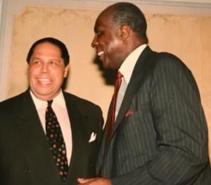 Maynard Jackson and Vernon Jordan at Gate City Bar Assoc First Hall of Fame Dinner