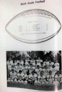 Lanier 9th grade football team 1965 66
