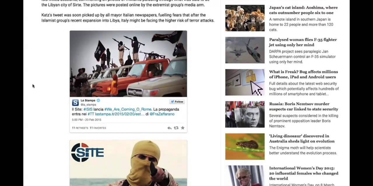 Italians Show World How to Deflate Terror Propaganda