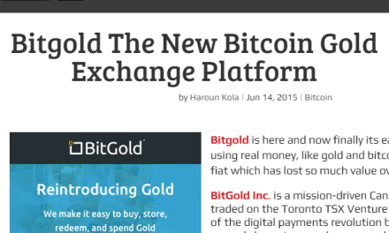 Bitgold The New Bitcoin Gold Exchange Platform