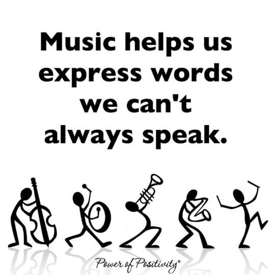 Music helps