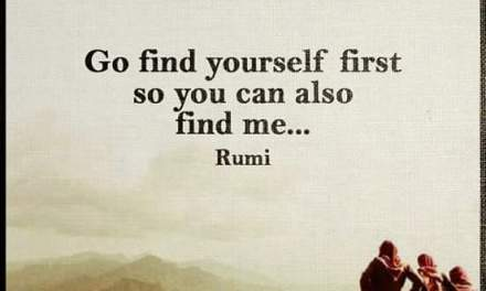Go find yourself first