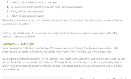 Mother Earth Celebration on August 10th