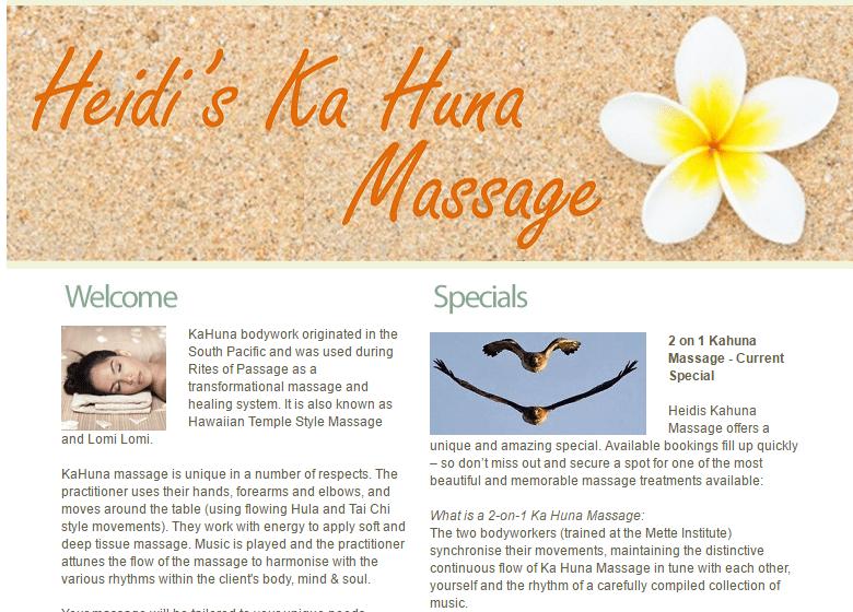 Heidi's KaHuna Massage in Brisbane Australia