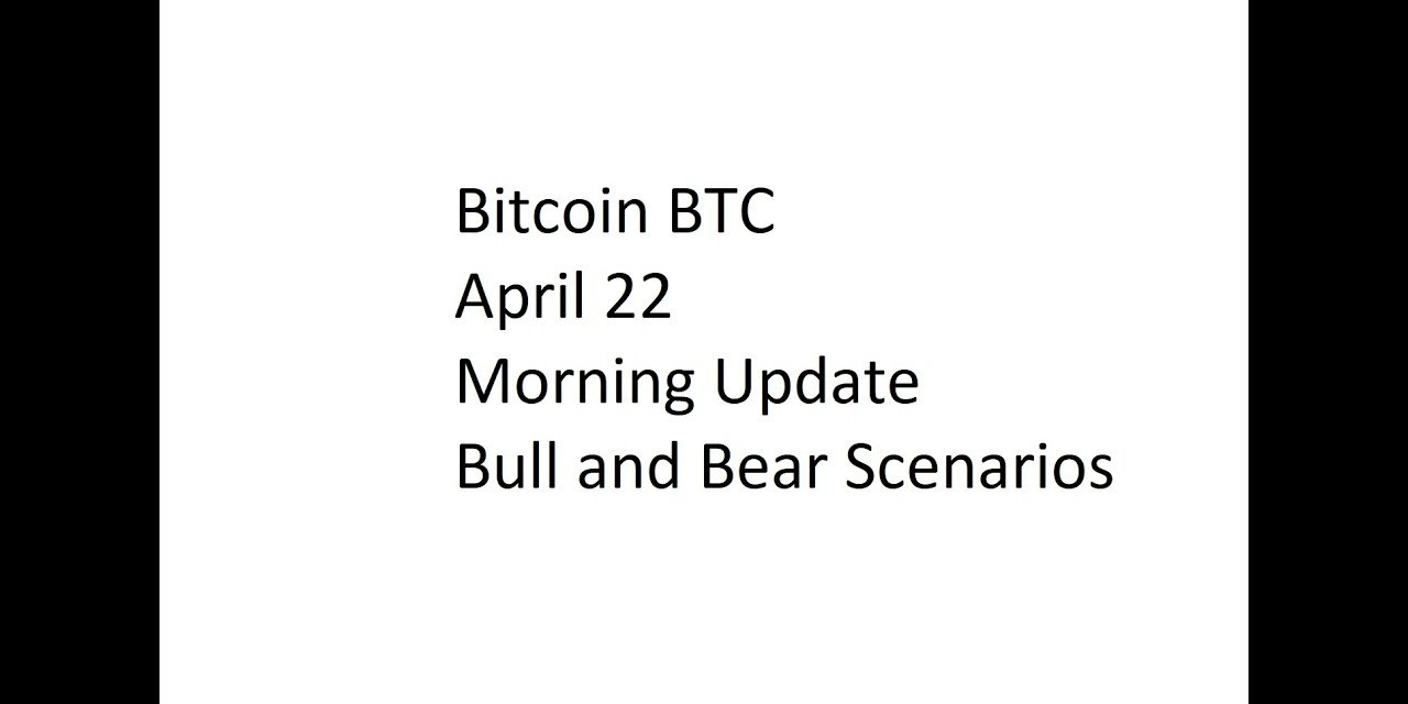 Bull and Bear Scenarios in the Bitcoin Price on 22 April 2018