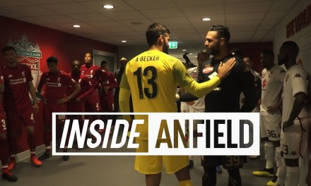Behind-the-scenes tunnel cam from Anfield friendly which ended Liverpool 3-1 Torino #LFC