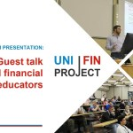Financial educator speaks to university students about joining the investment industry.