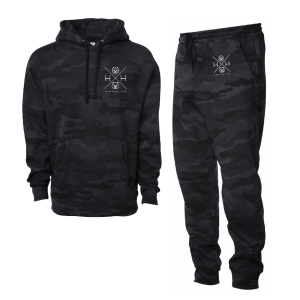 Black Camo Joggers by H + H
