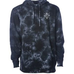 Unisex Black Tie Dye Sweatshirt