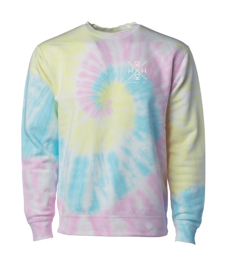 Swirl Tie Dye Crew Sweatshirt