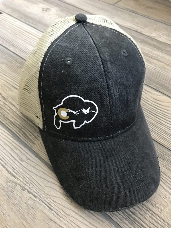 Colorado Buffaloes Distressed Trucker Hat