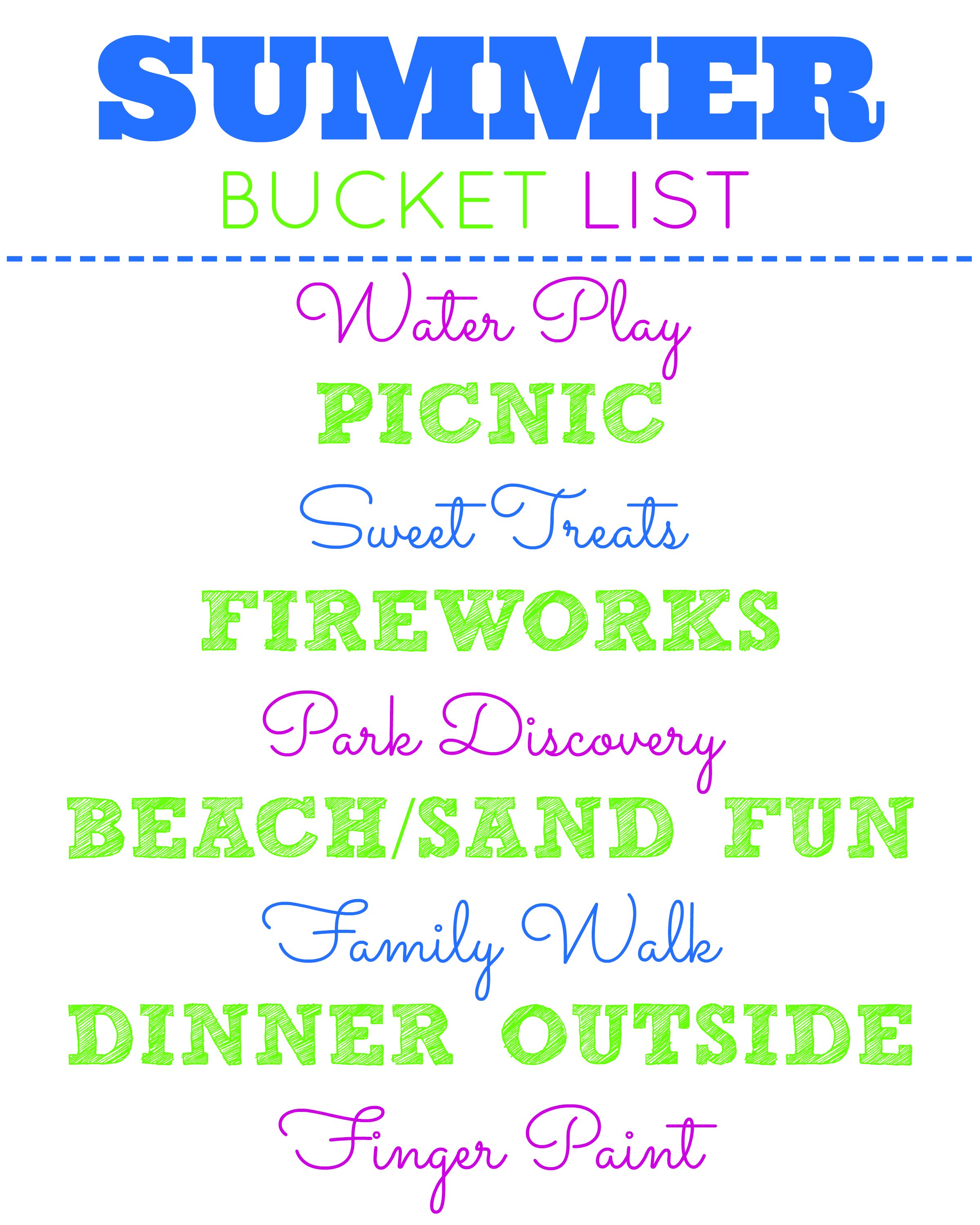 Summer Bucket List Picnic And Park Fun
